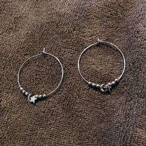 Star and Moon Mini Hoop Earrings